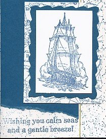 Stampin' Up! Schooner Card Example